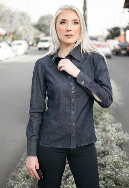 Camisa Feminina Jeans AD125